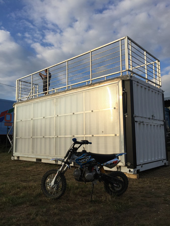 motocross container